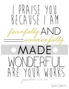 Printable - Psalm 139.14