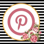 Pinterest Button - Floral