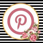 Pinterest Button - Floral
