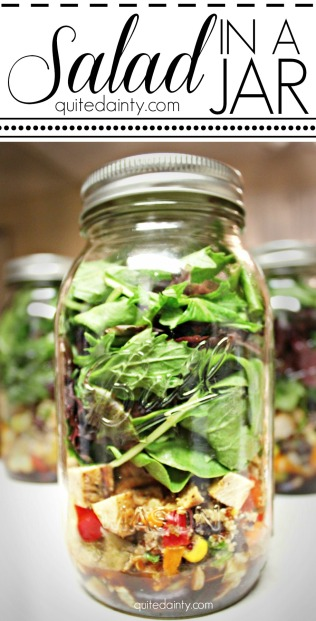 Salad in a Jar - Graphic